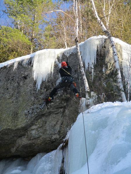 Rock Climbing Photo: Skip on the FA