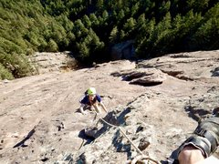 Rock Climbing Photo: Matt B. following on the Direct Route of the First...