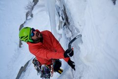 Rock Climbing Photo: Chance Traub midway up Lando Calrissian in January...