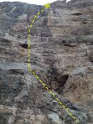Rock Climbing Photo: Hoarse Platitudes- 13b.