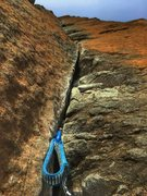 Rock Climbing Photo: Props to whoever can get out the fixed .3 x4 at th...