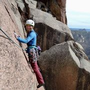 Rock Climbing Photo: Starting the P4 traverse.