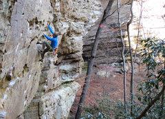 Rock Climbing Photo: Like a Turtle.