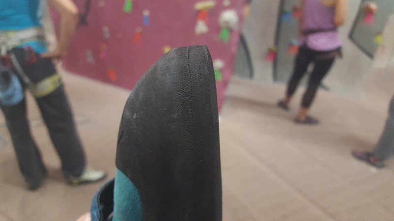 Rock Climbing Photo: Rubber on Evolv Kira Climbing Shoes