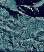 Rock Climbing Photo: Tim Goodloe on the ledge at The Hidden Temple