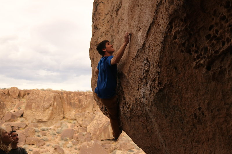 Rock Climbing Photo: Troy getting after it.