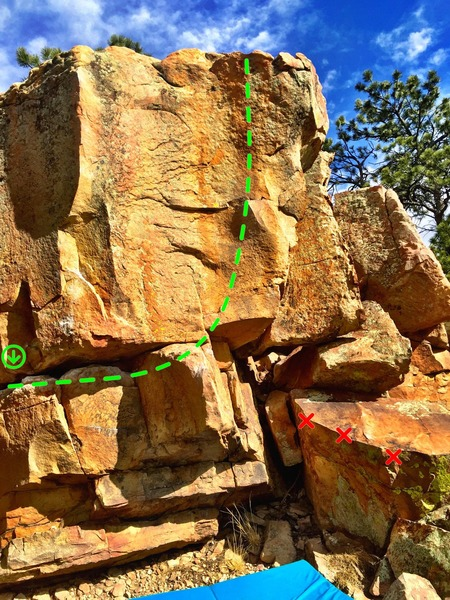 Rock Climbing Photo: The west side of the boulder.