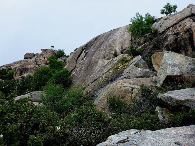 Rock Climbing Photo: Above the bushy...Placa del Tranco