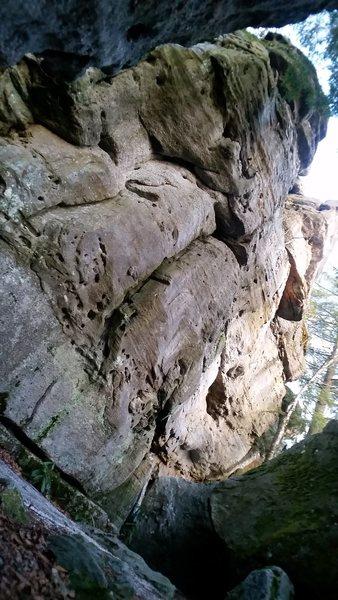 Rock Climbing Photo: High wall.