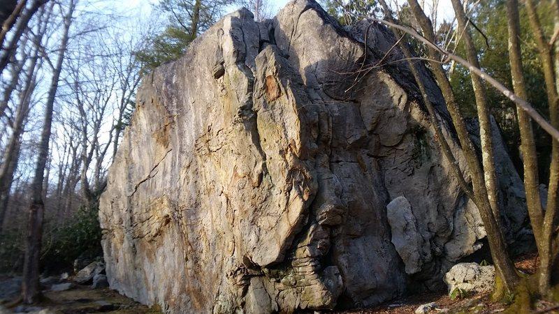 Rock Climbing Photo: Scar Face (Bolted Block)