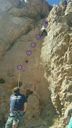 Rock Climbing Photo: A clear picture of the bolt line to lead.