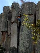 Rock Climbing Photo: Knee bar rest after OW battle, but one round left ...