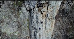 Rock Climbing Photo: Top of Pitch 1 belaying my second (Lauren Thomas) ...