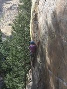 Rock Climbing Photo: Below the jugs.