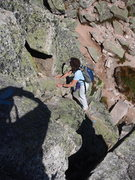 Rock Climbing Photo: Even the hiking trails are semi-technical. That bl...