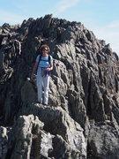 "Rock Climbing Photo: Sheila Matz on part of the ""Knife Edge"""