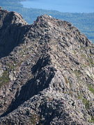 """Rock Climbing Photo: Looking down at the """"Knife Edge"""" from ju..."""