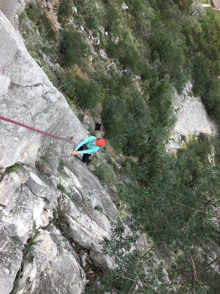 Rock Climbing Photo: A little further up P1