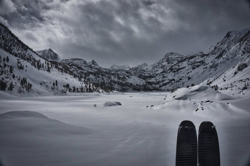 Rock Climbing Photo: Sabrina Lake in a good winter (2017).