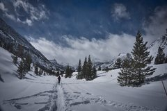 Rock Climbing Photo: The Sabrina Road (168) on skis.