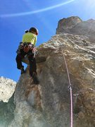 Rock Climbing Photo: starting the exposed and ultimately alpiney traver...