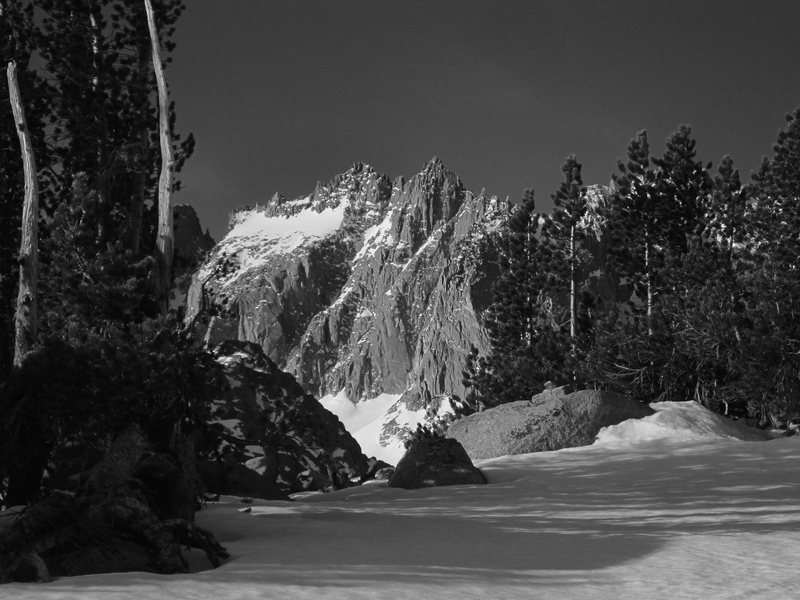 Rock Climbing Photo: North Palisade on the approach to Sam Mack Lake.