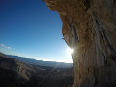 Rock Climbing Photo: Daniel Joannes Fighting the pump on the top of Tuf...