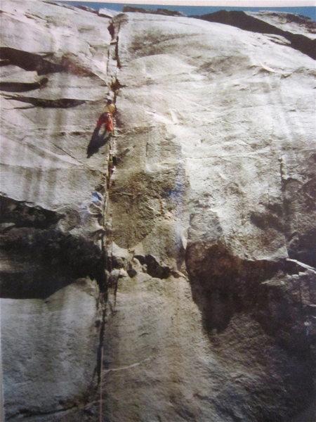 Rock Climbing Photo: First ascent of Free Enterprise