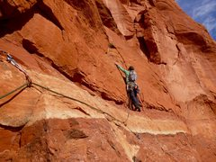 Rock Climbing Photo: Coming up to the crux move on Underbelly during th...