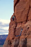 Rock Climbing Photo: Getting into the good stuff on P2. (Photo: Giselle...
