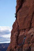 Rock Climbing Photo: Jamming through the crux on P2. (Photo: Giselle Fe...