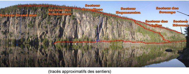 Rock Climbing Photo: Secteurs