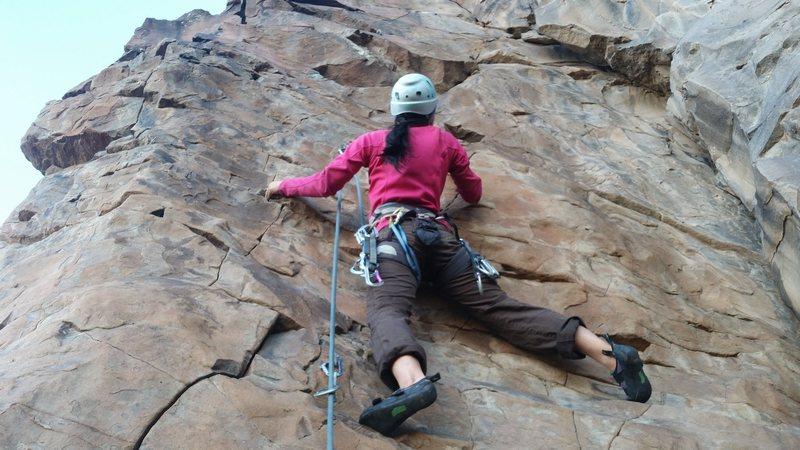 Rock Climbing Photo: Getting a good start on Finger Lichen Good.