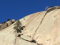 Rock Climbing Photo: A picture of the flake. One you hit the first deta...