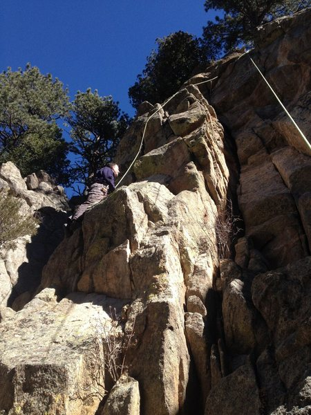 Rock Climbing Photo: Taking a run on the climb.