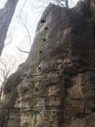 Rock Climbing Photo: Fine Line