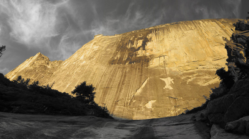 Half Rubble, Half Dome. 2000' of overhanging wall. Credit: Dustin Clelen.