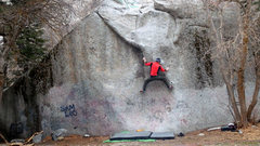 Rock Climbing Photo: Classic thin sequence of moves on this one....