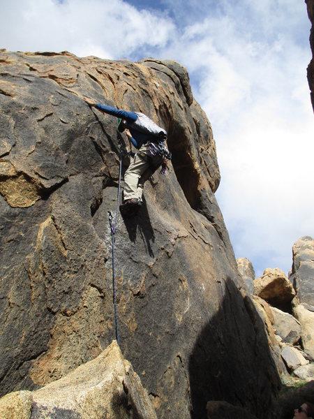 Rock Climbing Photo: Jorge starting route.