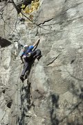 Rock Climbing Photo: Jonathan Nickel on Route at Potash