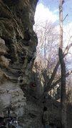 Rock Climbing Photo: bolting battle of bulge