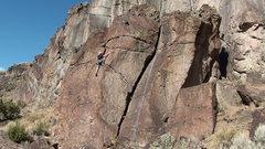 Rock Climbing Photo: Fun, easy climb. Good to warm up on.