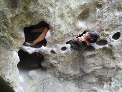 Rock Climbing Photo: Huecos are fun