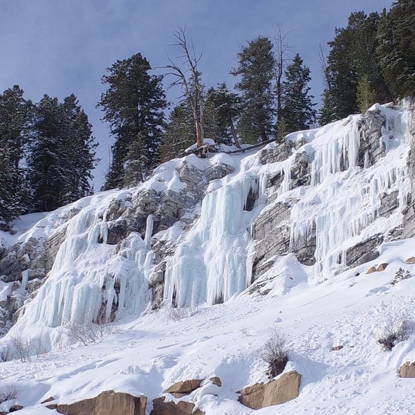 Rock Climbing Photo: Mary's lake ice was in great shape! Super stic...