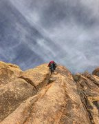 Rock Climbing Photo: topping out the A.T.H.