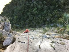 Rock Climbing Photo: seconding P2 (right side variation), a great pitch...