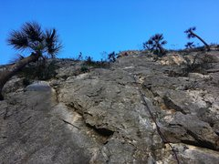 Rock Climbing Photo: Leading the long P3.  It's a great pitch.  Pho...