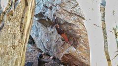 Rock Climbing Photo: Adam locking those fingers in