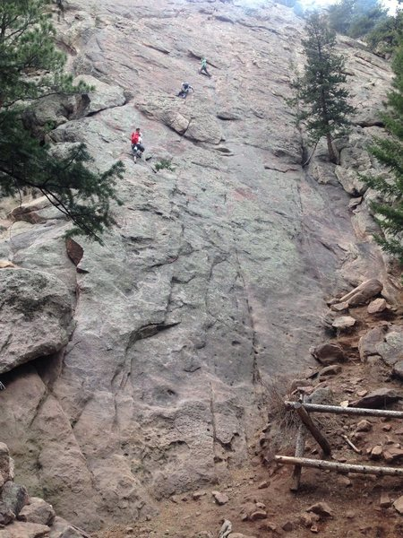 People soloing Chataqua/Flatirons area