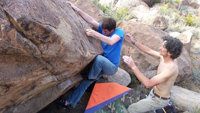 Robby turns the lip on MD 20/20 (V4?) at North Grapevine